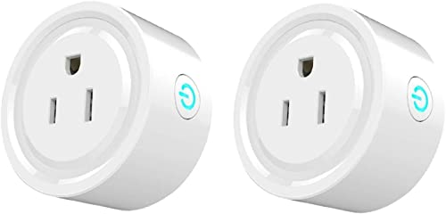 iDOBBi Wireless Mini Smart Plug Outlet – Compatible With Alexa – Voice Control Light Switch Socket – Remote Control From Anywhere With Smart Phone – Hub Not Required – Smart Timer Wireless Outlet