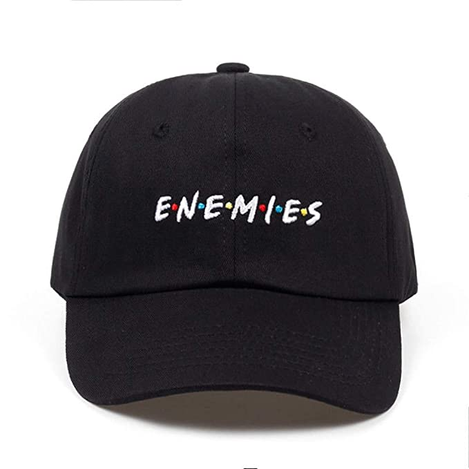 636be35ab00 Amazon.com  Enemies Embroidered Dad Hat 100% Cotton Baseball Cap for ...