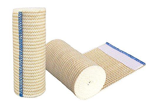 GT Cotton Elastic Bandage Roll w/Hook & Loop Closure On Both