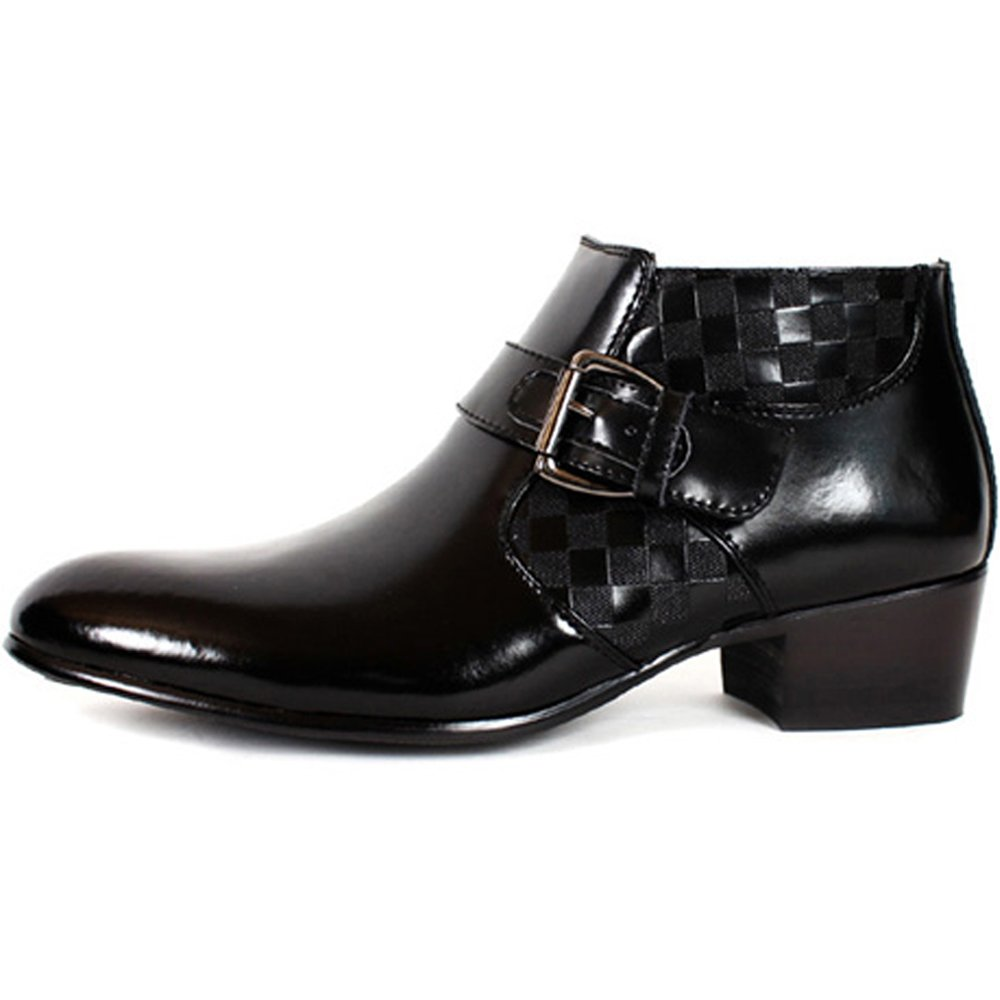 JustOneStyle New Band Fashion Mens Dress Formal Leather Zip Ankle Boots Shoes Black (8.5)