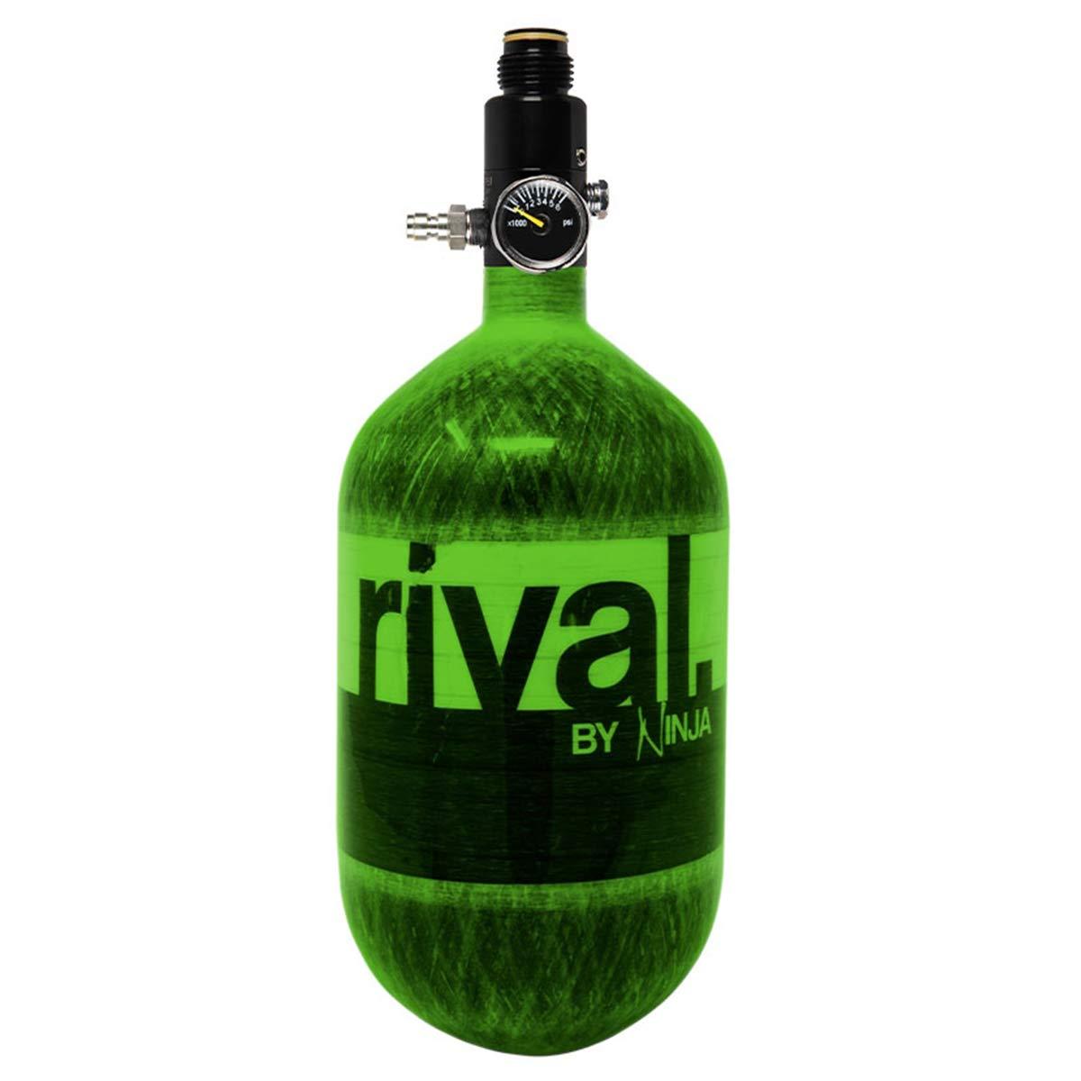 Ninja Rival Paintball Compressed HPA Air Tank (Lime) by Ninja Paintball