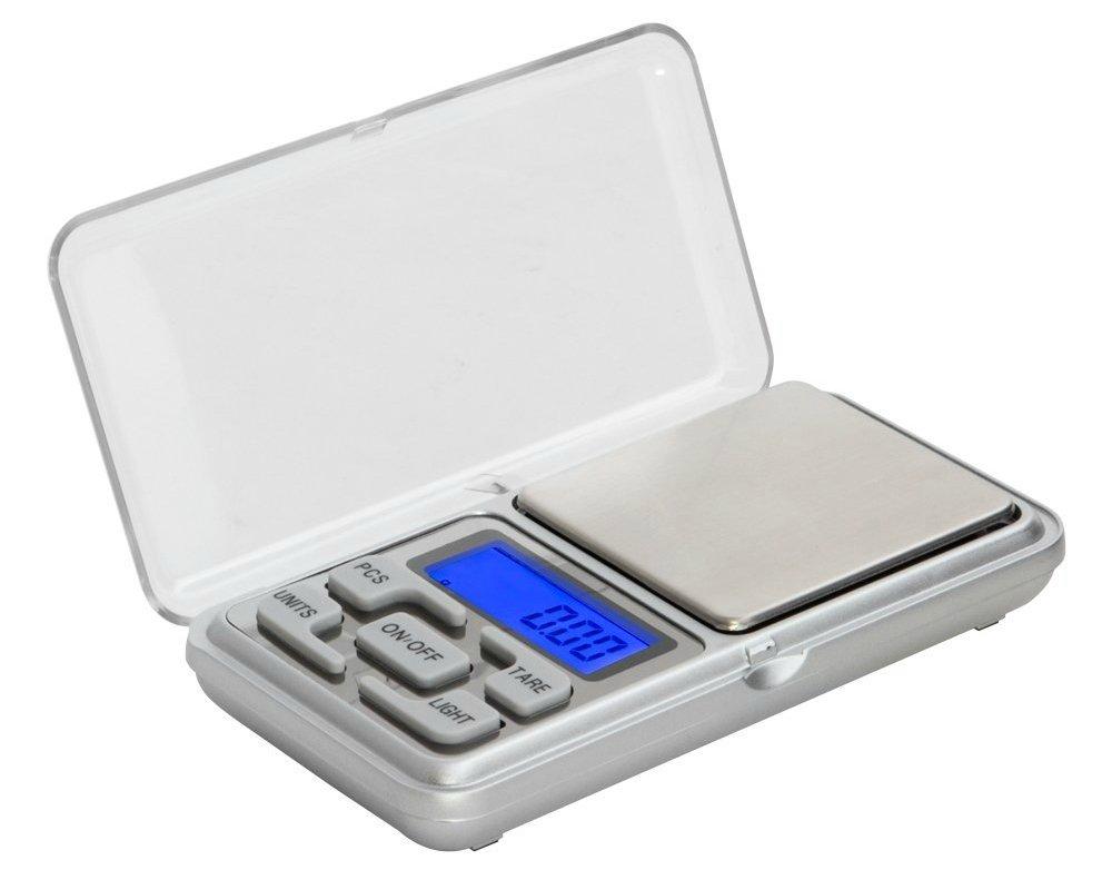 MSC Digital de bolsillo escalas, 500 g/0,1 G) bolsillo de alta precisión Báscula de báscula de alimentos, joyas, multifuncional Pro báscula con pantalla LCD ...