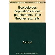 ecologie des populations et des peuplements