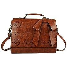 ECOSUSI Vintage Women Messenger Bag Top Handle S/L