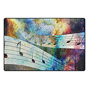 U LIFE Music Colorful Signs Large Doormats Area Rug Runner Floor Mat Cover Carpet for Entrance Way Living Room Bedroom Kitchen Office 31 x 20 Inch