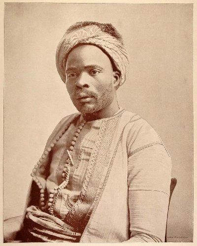 1893 Chicago World's Fair Ethnic Portrait Algerian Man Algeria Costume Historic - Original Halftone (Algerian Costume For Men)