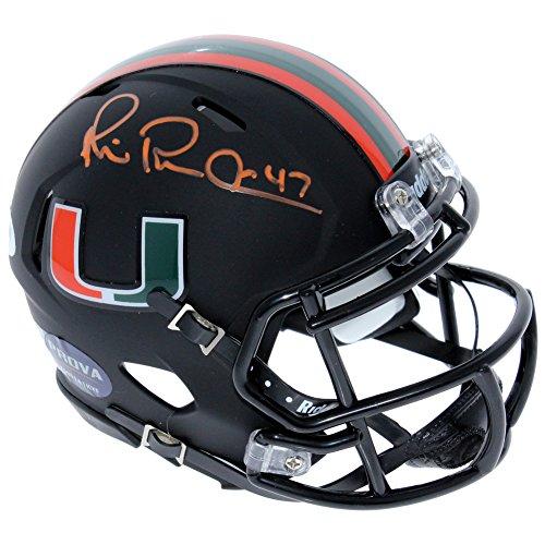 Michael Irvin Miami Hurricanes Autographed Signed Riddell Black Speed 'Miami Nights' Mini Helmet - PSA/DNA Authentic