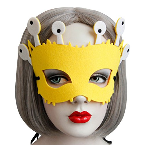 Snail Costume Mask for Women Cute, Halloween Masquerade Funny Animal Masks Black Green Yellow (Yellow) -