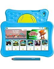 8 tums surfplattor för barn AWOW Tablet PC för barn, Android 11 Go Quad Core, 2GB RAM 32GB Rom, KIDOZ förinstallerad med Kids-Proof case och Stylus Pen, Anti-blue Light Eye Protection, dubbel kamera, Föräldrakontroller (Blå)
