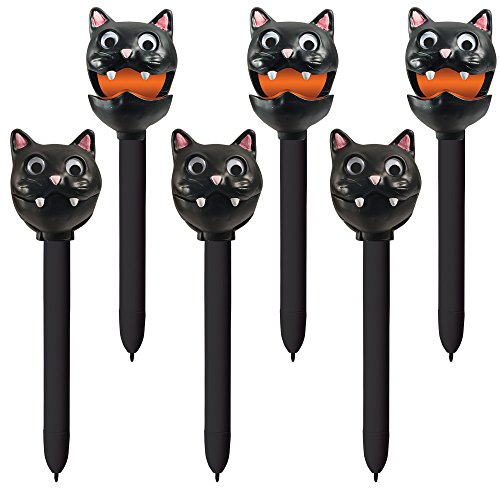 (Educational Insights Halloween Puppet-on-a-Pen Black Cat, Set of)