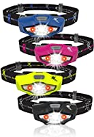 Headlamp with LED Headlight Technology - 6 Head Lamp Modes, 1 AA Battery, Lightweight, Water Resistant | For Camping, Running, Hiking, Car, Backpack and Emergency Kit | Perfect for Home, Too
