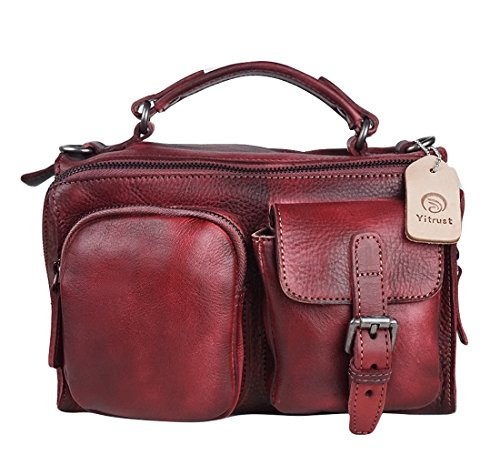 Red Leather Slouch Bag - 9