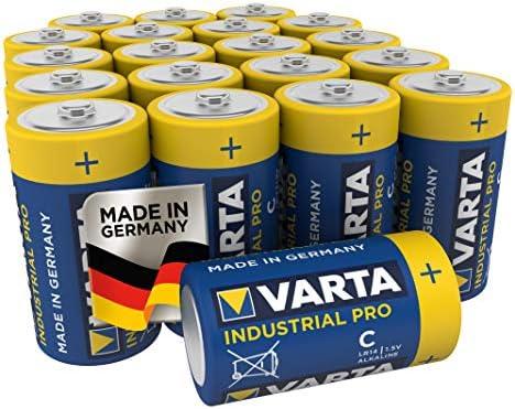 VARTA Industrial - Pilas alcalinas C / LR14 / Baby (pack de 20 Unidades, 1.5 V)