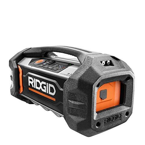 (Ridgid 18-Volt Lithium-Ion Cordless Bluetooth Charging Radio (Tool Only) R84085B (Renewed))