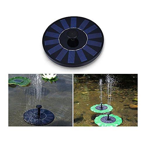 Weanas Solar Fountain Pump, Solar Powered Floating Fountain Kit With Filter Solar Water Fountain for Bird Bath Pond, Pool and Garden Decoration (Solar Pond Filter)