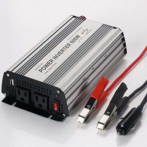 E-LION 600W Power Inverter DC 12V,Output 110V-120V AC Car Inverter with USB Car Adapter 600 600w Power Inverter
