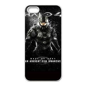 HALO 4 02 para el funda iPhone 5 5s funda del teléfono celular de cubierta blanca