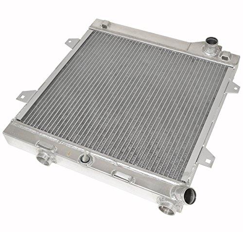 AJP Distributors Manual Transmission Racing Dual Core Aluminum Cooling Radiator for BMW E30 (Bmw 318i E30 Transmission)