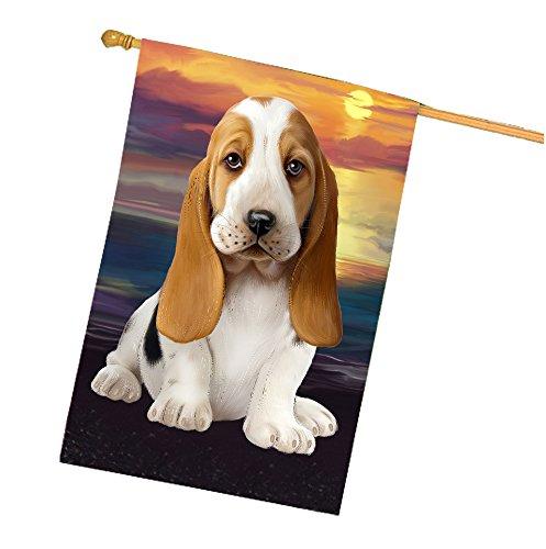 Basset Hound Dog House Flag HF281
