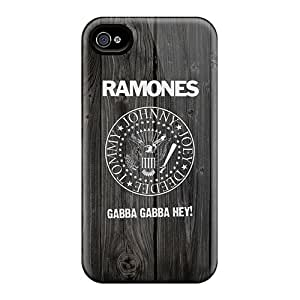 Anti-Scratch Hard Cell-phone Case For Iphone 4/4s (ljF19937TeGM) Unique Design High-definition Ramones Pictures