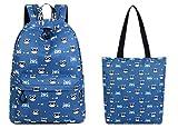 Cute Waterproof Polyester Glasses Cat Pattern Print Bag