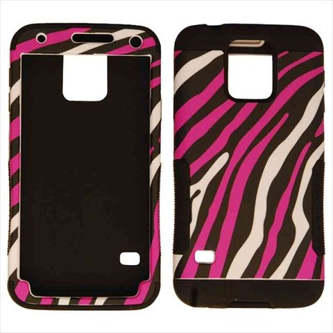 Unlimited Cellular Hopper Case for Samsung Galaxy S5 (White Zebra on Pink Snap & Black Skin) (Skin Snap Pink Zebra)