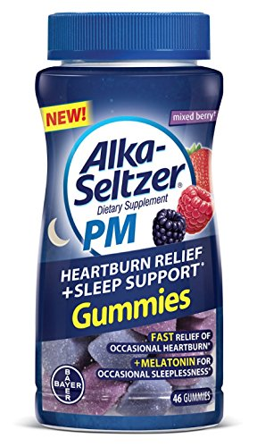 Alka Seltzer PM Heartburn Relief Plus Sleep Support Chews, 46 Count (1 Bottle)