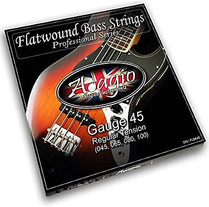 Cuerdas de guitarra eléctrica Adagio Flatwound 45-100 níquel estándar calibre regular
