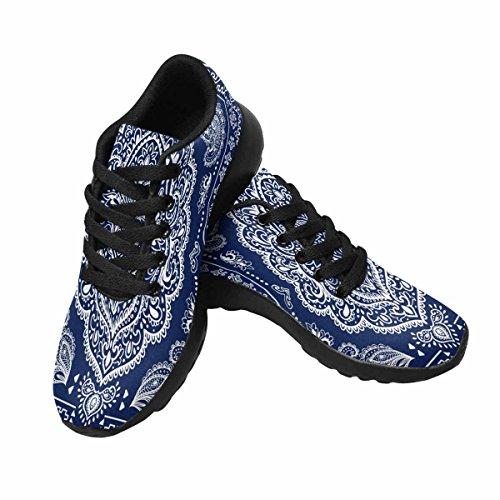 InterestPrint Womens Jogging Running Sneaker Lightweight Go Easy Walking Comfort Sports Running Shoes Indian Floral Multi 1 a590lBQM