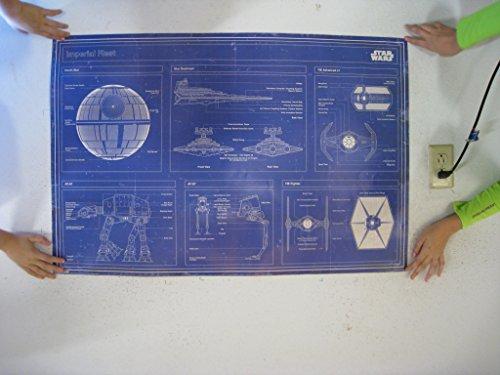 Star Wars - Imperial Fleet Blueprint Poster Art Print