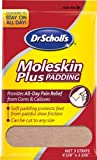 Dr. Scholl's Moleskin Plus 4  5/8-Inch X 3 3/8 Inch  Padding, 3-Count Packages (Pack of 8)
