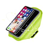 Venoro Water Resistant Sports Armband, 5.8 Inch Running Workout Exercise Case with Fingerprint Touch Key Holder Card Slot for iPhone X 8 7 Plus 6s, Samsung Galaxy S9 S8 S7 Edge and More (Green)