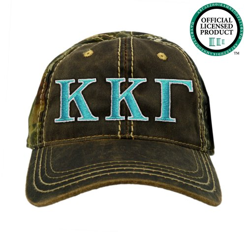 Kappa Kappa Gamma (KKG) Embroidered Camo Baseball Hat, Various Colors