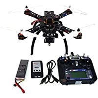 QWinOut 4-Axis Assembled RC Quadcopter Drone : APM2.8 Flight Control + FS-i6 6CH Transmitter + GPS Folding Antenna Mount + Camera PTZ