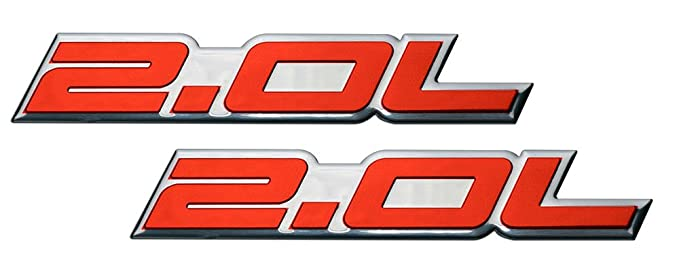 Amazon.com: 2 x (pair/Set) 2.0L Liter Embossed RED on Highly Polished Silver Real Aluminum Auto Emblem Badge Nameplate for Kia Optima SX Limited T Zheta ...