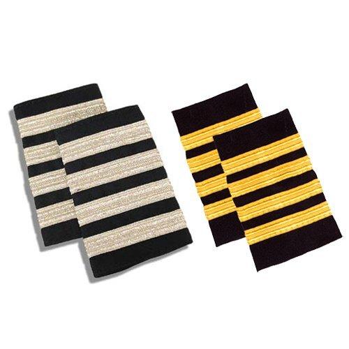 Epaulets 3 Gold Bar on Navy Blue Board