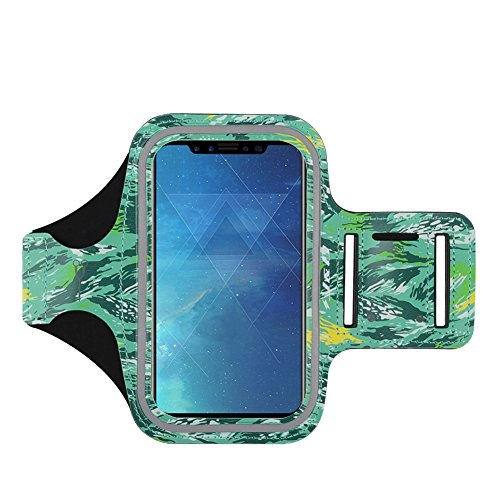 J&D Armband Compatible for iPhone Xs Armband/iPhone XR Armband/iPhone X Armband/iPhone 8 Armband/iPhone 7 Armband/iPhone 6S/iPhone 6 Armband, Sports Armband with Key Holder Slot & Earphone Connection