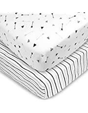American Baby Company Printed 100% Natural Cotton Soft Breathable Jersey Knit Fitted Pack N Play Playard Sheet