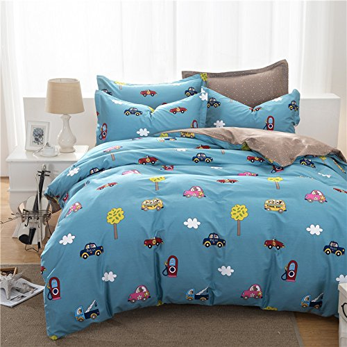 Brandream Boys Cars Bedding Set Kids Bedding Set Duvet Cover Full Queen Size