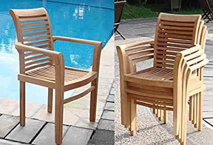 Add On Item: Mas Stacking Dining Captain Arm Chair   Outdoor Patio Grade