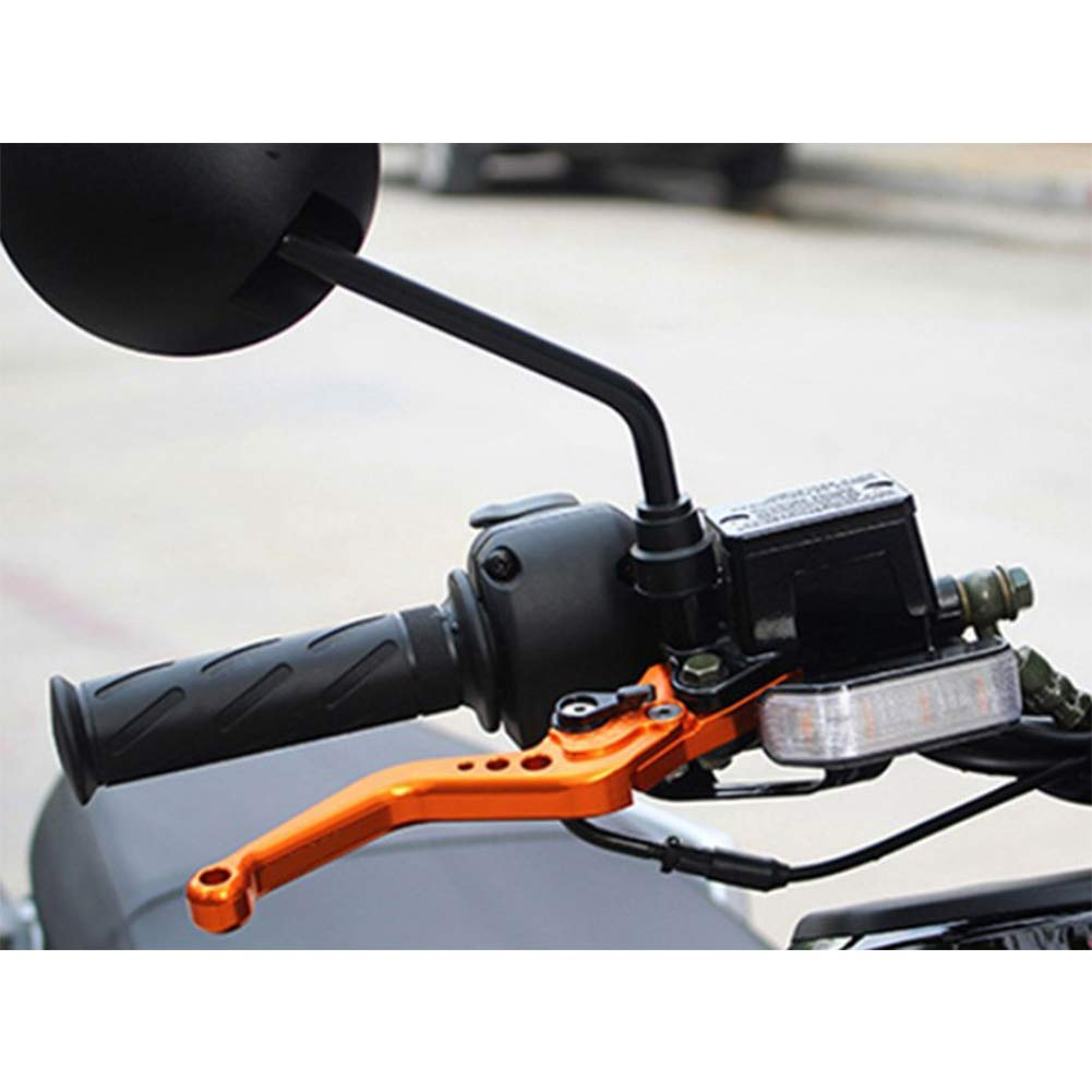 Yiwa Brems Kupplungshebel,Bremshebel f/ür Motorradmodifikation Einstellbarer Horngriff aus Aluminiumlegierung Gr/ün
