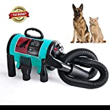 CROWPET Pet Grooming Hair Dryer for Dog and Cats … (Dark green)