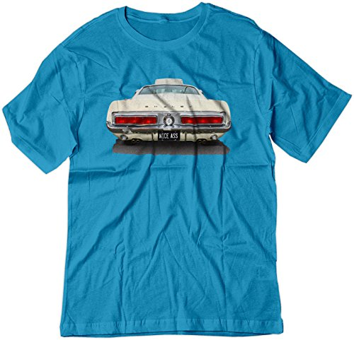 Sl Shelby (BSW Men's Nice Ass Shelby Mustang Classic Car Muscle GT Shirt LRG Sapphire)