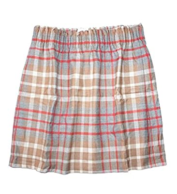 J Crew Factory Women's Plaid Wool Blend Sidewalk Pull-on Skirt