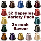 32 NESPRESSO CAPSULES Starter Pack, 2x FULL COFFEE RANGE - NOT Compatible with VERTUOLINE machines