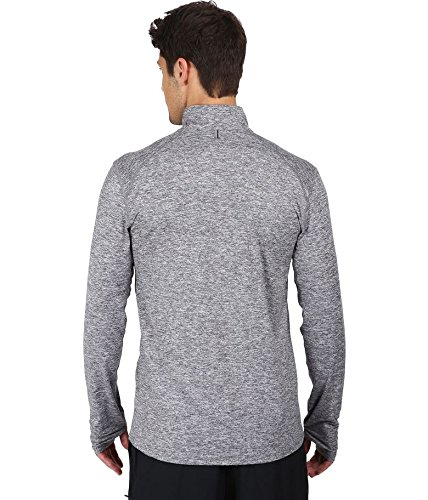 NIKE Top Men's Running Heather Dark Element Dry Reflective Grey Silver rFrwvqI