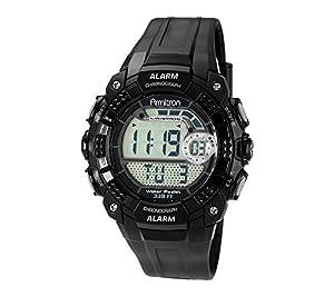 Armitron Sport Men's 49mm Digital Chronograph Black Strap Watch