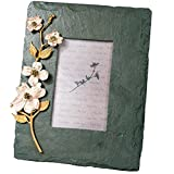 ''Dogwood Flower'' 4x6 Slate Frame by Michael Michaud for Silver Seasons Table Art