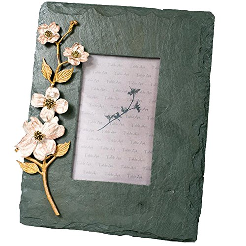 ''Dogwood Flower'' 4x6 Slate Frame by Michael Michaud for Silver Seasons Table Art by Michael Michaud