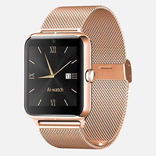 Sonmer Z50 Bluetooth Smart Watch, With Phone SIM GPRS NFC Function (Gold)